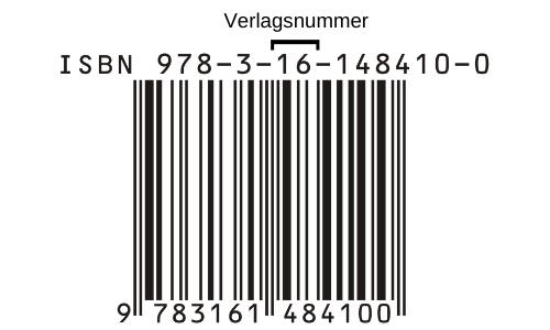 ISBN Nummer Verlagsnummer gekennzeichnet