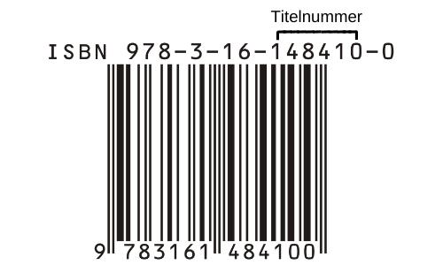 ISBN Nummer Titelnummer gekennzeichnet
