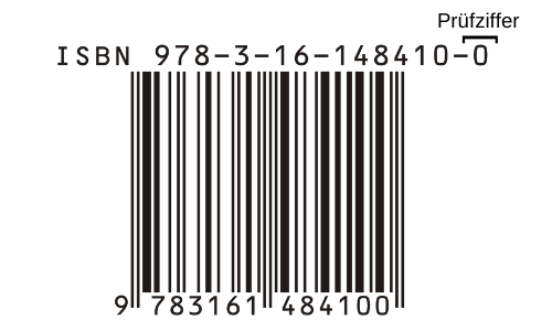 ISBN Nummer Prüfziffer gekennzeichnet
